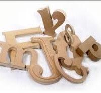 3D MDF letter Samples