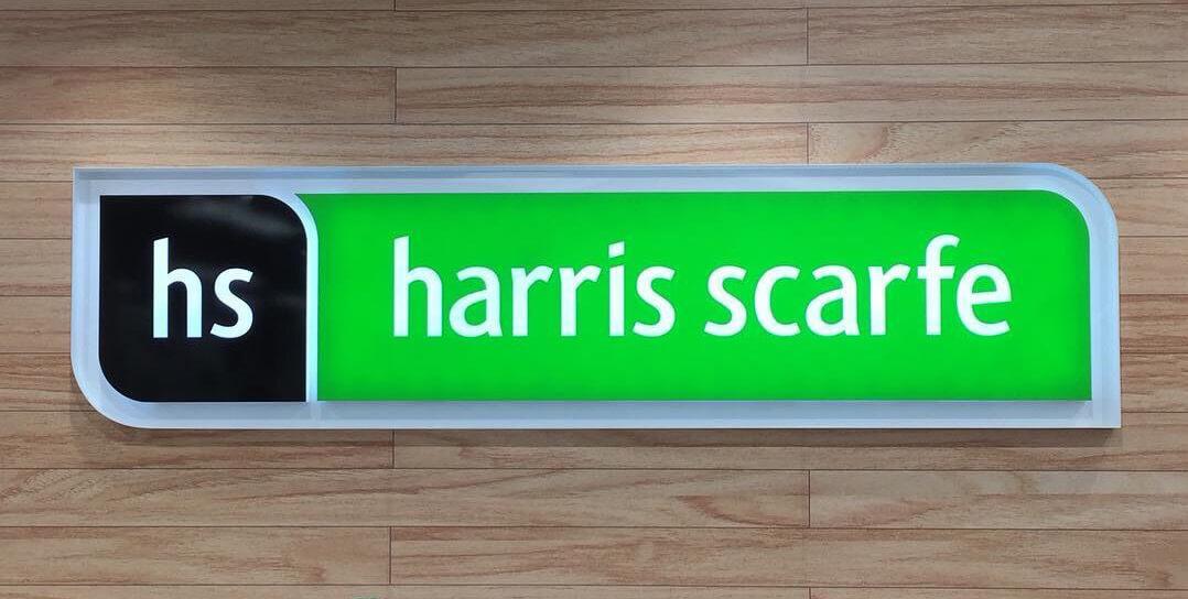 Harris Scarfe signage