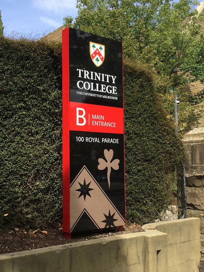 college signage
